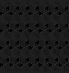 black cubes pattern seamless background vector image