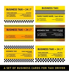 Business card taxi - seventh set vector image
