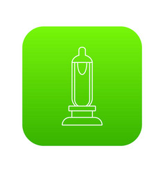 Car candle icon green vector