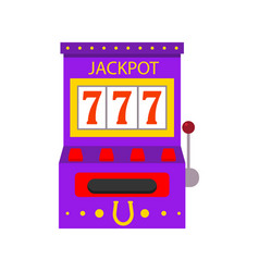 cartoon jackpot game machine on a white vector image