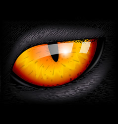 Cat eye realistic 3d image vector
