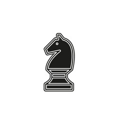 chess game horse - chess game strategy vector image
