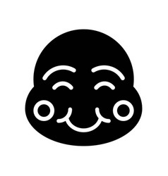 Chinese smile mask chinese new year related vector