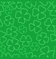 clover outline seamless pattern st patrick day vector image