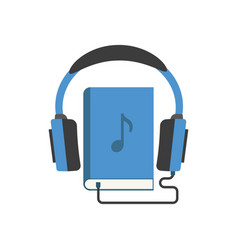 Color audiobook icon in flat vector