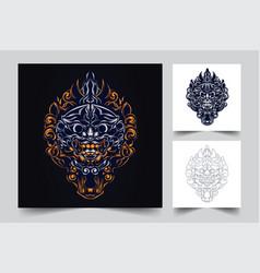 culture balinese indonesian artwork vector image