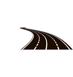 curved road vector image