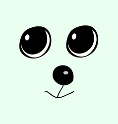 cute animal head funny cartoo vector image