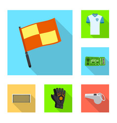 Design of soccer and gear sign set of vector