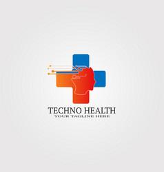 digital health icon template logo technology vector image