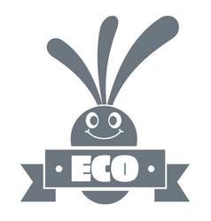 eco eggplant logo simple gray style vector image