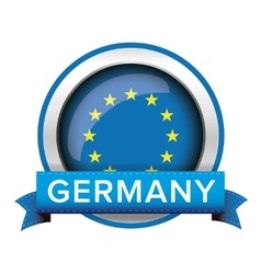 eu flag button with germany ribbon vector image
