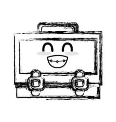 Figure kawaii cute funny suitcase design vector