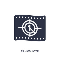 Film counter icon on white background simple vector