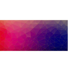 flat triangle bright red and blue gradient vector image