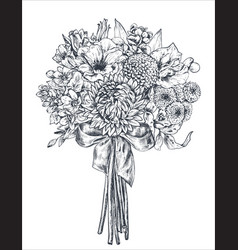 floral composition bradal bouquet with beautiful vector image