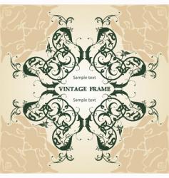 Floral frame vintage vector