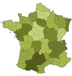 France regions and departments vector