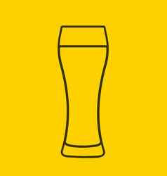 glass of beer icon symbol template logo vector image