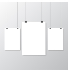 Grey wall with mock up vector