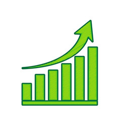 growing graph sign lemon scribble icon on vector image