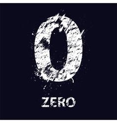 Grunge number zero vector