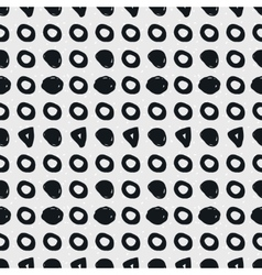 Hand-drawn geometric seamless pattern vector image