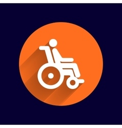 handicap handicapped chair wheel accessible an vector image