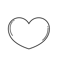 heart love symbol in black and white vector image