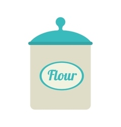 Icon flour bowl isolated vector