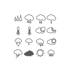 icons weather set vector image
