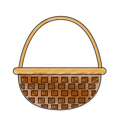Isolated basket design vector