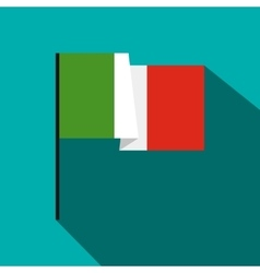Italy flag icon flat style vector image
