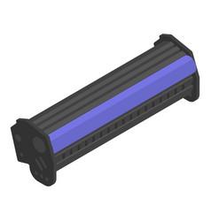 Laser printer toner cartridge icon isometric vector