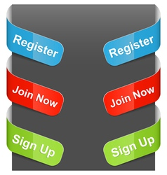 Left right sign register join now sign up vector