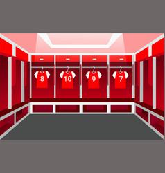 Locker room dressing room soccer team vector