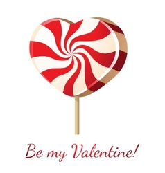 lollipop heart vector image