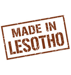 Made in lesotho stamp vector