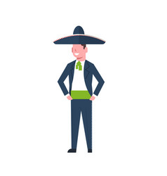 mexican man dancer in traditional clothes and vector image