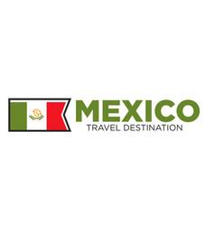 Mexico travel destination banner vector