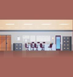 modern police station or department with furniture vector image