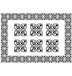 monochrome border elements vector image