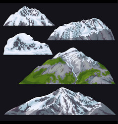 Mountains with snow-covered tops vector