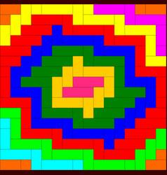 multi-color weave pattern background vector image
