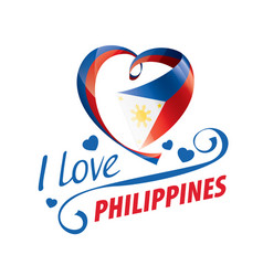National flag philippines in shape a vector