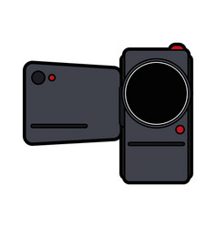 Portable video camera icon image vector
