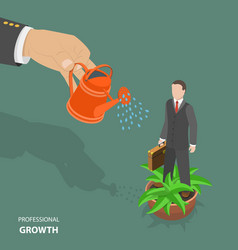 Professional growth flat isometric low poly vector
