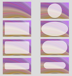Purple colorful business card template design set vector