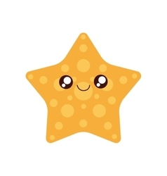 sea star kawaii cute icon vector image