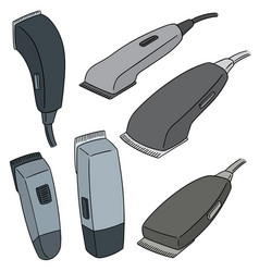 set of hair cutting machine vector image